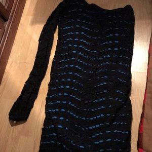Dresses & Skirts - Short one sleeved blue and black party dress